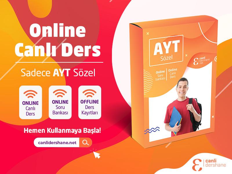 AYT Sözel Online Canlı Dersler