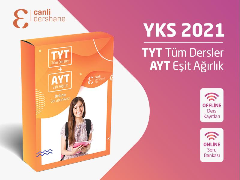 YKS 2021 - TYT AYT Tüm Dersler + AYT Eşit Ağırlık Offline Kayıtları