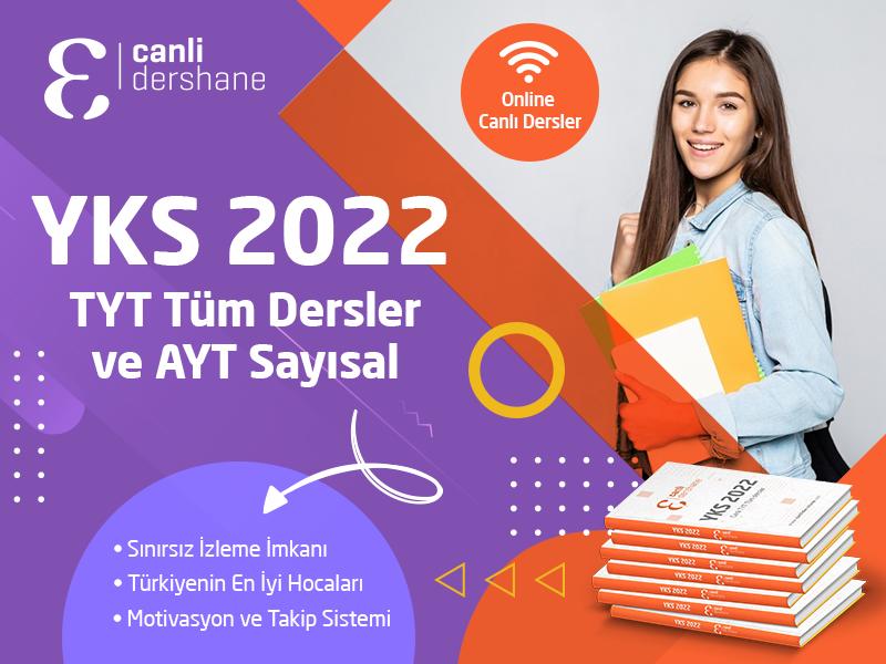 Canlı TYT Tüm Dersler ve AYT Sayısal - YKS 2022 - Kitaplı